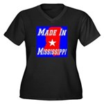 Made In Mississippi Women's Plus Size V-Neck Dark