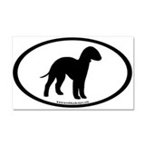 Bedlington Terrier Oval Car Magnet 20 x 12