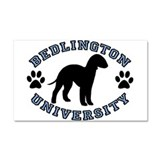Bedlington University Car Magnet 20 x 12