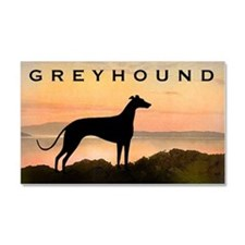 Greyhound Sunset Car Magnet 20 x 12