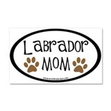Labrador Mom Oval Car Magnet 20 x 12