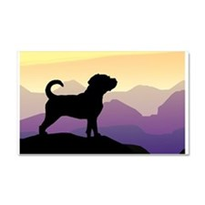 Purple Mountains Puggle Car Magnet 20 x 12