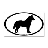 Siberian Husky Dog Oval Car Magnet 20 x 12