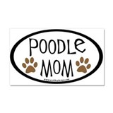 Poodle Mom Oval Car Magnet 20 x 12