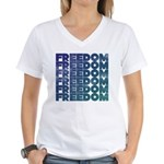Freedom Women's V-Neck T-Shirt