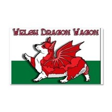 The Red Corgon! - Car Magnet 20 x 12