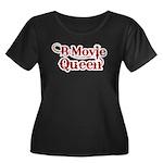 B Movie Queen Women's Plus Size Scoop Neck Dark T-
