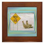 Watch for Ice Framed Tile