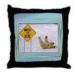 Watch for Ice Throw Pillow