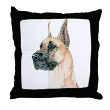 Fawn Great Dane Throw Pillow