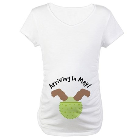Maternity Arriving In May Pregnancy T-shirt