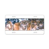 4 Wolves Aluminum License Plate