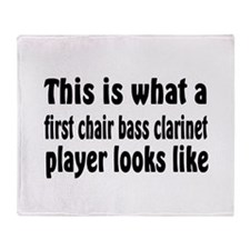Bass Clarinet Throw Blanket