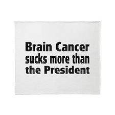 Brain Cancer Throw Blanket