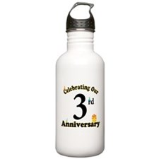 3rd Anniversary Party Gift Water Bottle