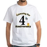 4th Anniversary Party Gift Shirt