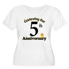 5th Anniversary Party Gift T-Shirt