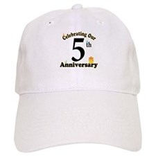 5th Anniversary Party Gift Baseball Cap
