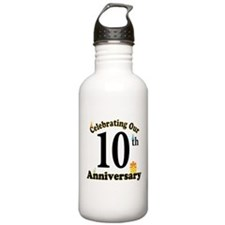 10th Anniversary Party Gift Water Bottle