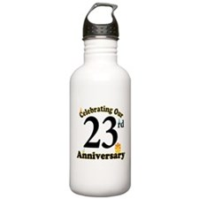 23rd Anniversary Party Gift Water Bottle