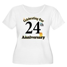 24th Anniversary Party Gift T-Shirt