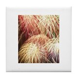 Cute Fireworks Tile Coaster