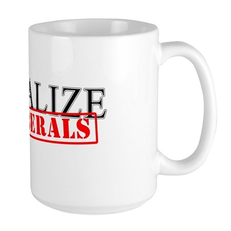 Visualize No Liberals Large Mug