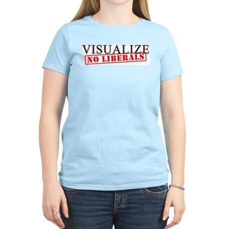 Visualize No Liberals Women's Pink T-Shirt