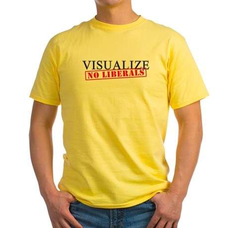 Visualize No Liberals Yellow T-Shirt