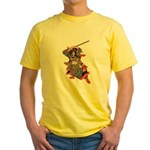 Japanese Samurai Warrior Yellow T-Shirt