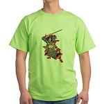 Japanese Samurai Warrior Green T-Shirt