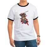 Japanese Samurai Warrior Ringer T