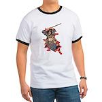 Japanese Samurai Warrior Ringer T