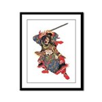 Japanese Samurai Warrior Framed Panel Print