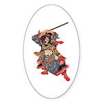 Japanese Samurai Warrior Sticker (Oval 50 pk)