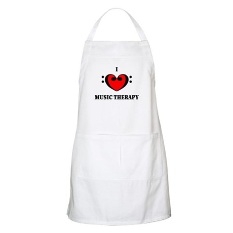 I Luv Music Therapy BBQ Apron