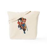 Japanese Samurai Warrior Tote Bag