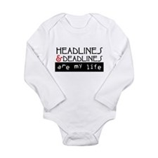 Headlines & Deadlines Long Sleeve Infant Bodysuit
