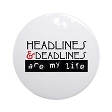 Headlines & Deadlines Ornament (Round)