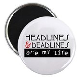 "Headlines & Deadlines 2.25"" Magnet (10 pack)"