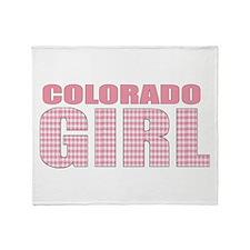 Colorado Girl Throw Blanket