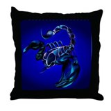 Black Scorpion Throw Pillow