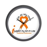 With All My Heart Leukemia Wall Clock
