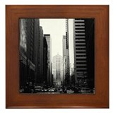 Chicago Black & White Framed Tile
