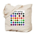 color analysis Tote Bag clear spring