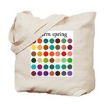 color analysis Tote Bag warm spring