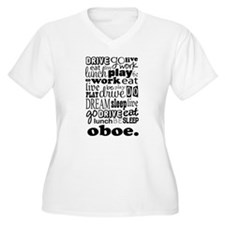 Eat, Sleep, Work, Play Oboe T-Shirt