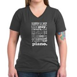 Eat, Sleep, Work, Play Piano Shirt