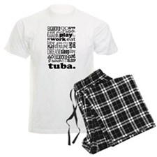 Eat, Sleep, Work, Play Tuba Men's Light Pajamas