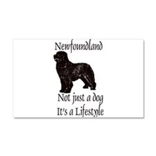 Newfoundlands It's A Lifestly Car Magnet 20 x 12